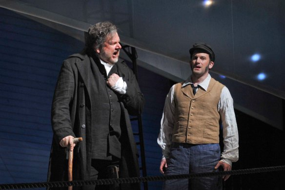 Ben Hepner as Ahab and Morgan Smith as Starbuck in 2010 Dallas Opera premiere.  Photo copyright Karen Almond
